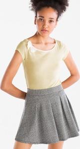 T-shirt CLOCKHOUSE z krótkim rękawem z okrągłym dekoltem z szyfonu