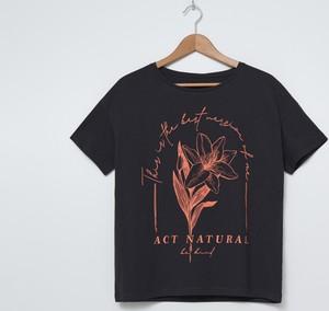 T-shirt House z krótkim rękawem w młodzieżowym stylu z nadrukiem