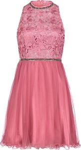 Różowa sukienka Vera Mont bez rękawów rozkloszowana
