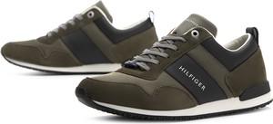 Buty sportowe Tommy Hilfiger sznurowane z zamszu