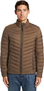 Brązowa kurtka Tom Tailor w stylu casual krótka