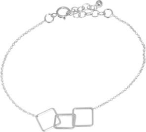 Monarti Srebrna bransoletka geometryczna