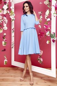 Sukienka FLORENCE z długim rękawem z okrągłym dekoltem mini