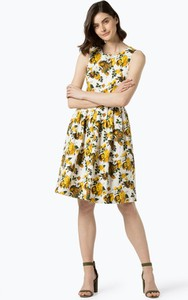 Żółta sukienka Kavi midi bez rękawów