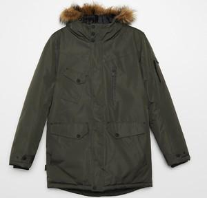 Zielony płaszcz męski Cropp