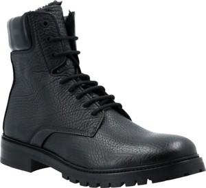 Buty zimowe Hugo Boss ze skóry w stylu casual sznurowane