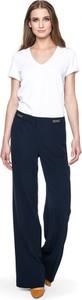 Granatowe spodnie POTIS & VERSO w stylu retro z tkaniny