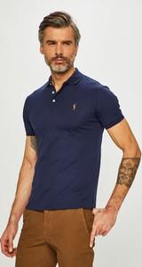 Granatowy t-shirt POLO RALPH LAUREN z krótkim rękawem