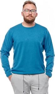 Niebieski sweter Wrangler z bawełny w stylu casual