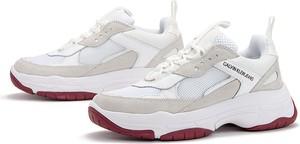 Sneakersy Calvin Klein z płaską podeszwą