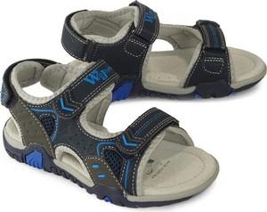 Buty dziecięce letnie Wojtyłko na rzepy ze skóry