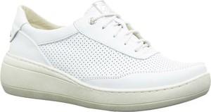 Buty sportowe Helios ze skóry ekologicznej z płaską podeszwą sznurowane