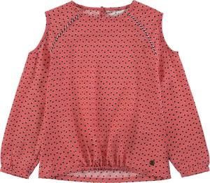 Czerwona bluzka dziecięca Tom Tailor z bawełny