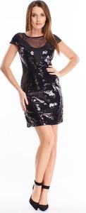 Czarna sukienka N/A z tiulu dopasowana
