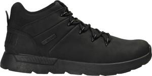 Czarne buty zimowe Big Star ze skóry ekologicznej sznurowane