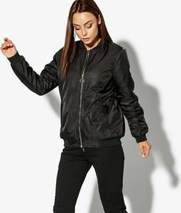Czarna kurtka Confront w stylu casual krótka