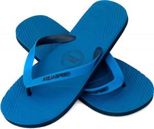 Niebieskie buty letnie męskie Aqua-Speed ze skóry