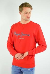 Czerwona bluza Pepe Jeans w młodzieżowym stylu z bawełny