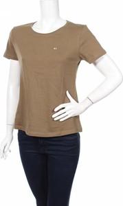 Zielony t-shirt Tommy Hilfiger z okrągłym dekoltem