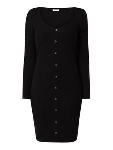 Czarna sukienka Noisy May szmizjerka w stylu casual