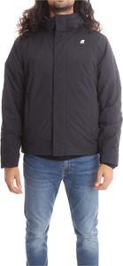 Czarny płaszcz męski K-Way w stylu casual