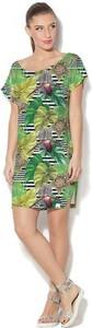 Sukienka COLOUR PLEASURE midi w stylu casual z okrągłym dekoltem