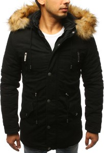 Czarna kurtka Dstreet w stylu casual z bawełny