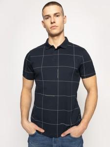 Granatowy t-shirt Armani Exchange z krótkim rękawem