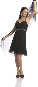 Sukienka Fokus z dekoltem w kształcie litery v mini rozkloszowana