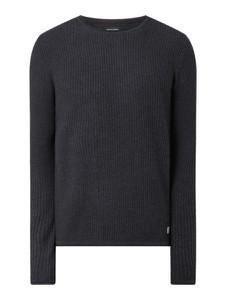 Granatowy sweter Jack & Jones z bawełny