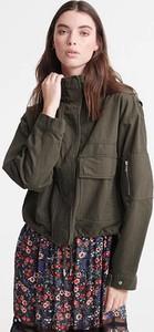 Zielona kurtka Superdry z bawełny w stylu casual
