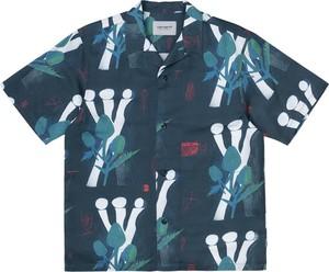 Koszula Carhartt WIP w młodzieżowym stylu z krótkim rękawem z nadrukiem