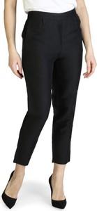 Czarne spodnie Armani Exchange z lnu