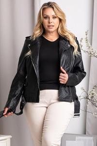 Czarna kurtka KARKO krótka w stylu casual