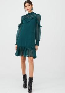 Sukienka V by Very z długim rękawem z okrągłym dekoltem mini