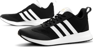 Granatowe buty sportowe Adidas z zamszu