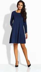 Niebieska sukienka TAGLESS wyszczuplająca