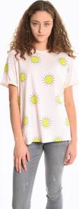 T-shirt Gate z bawełny z krótkim rękawem