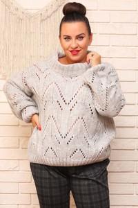 Sweter KARKO w stylu casual z dzianiny