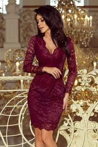 Sukienka NUMOCO z długim rękawem dopasowana