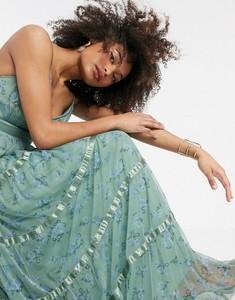 Zielona sukienka Anaya z satyny