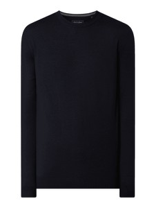 Granatowy sweter Christian Berg Men z wełny