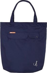 Niebieska torebka Karhu matowa z tkaniny