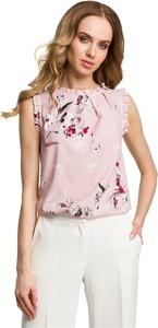 Różowa bluzka Merg bez rękawów