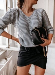 Czarna spódnica Pakuten z bawełny mini