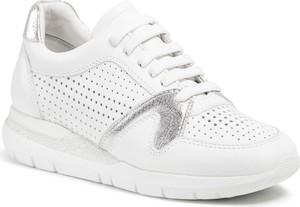 Buty sportowe Badura z płaską podeszwą sznurowane ze skóry