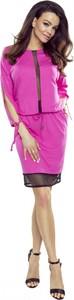 Sukienka Bergamo mini w stylu casual z długim rękawem