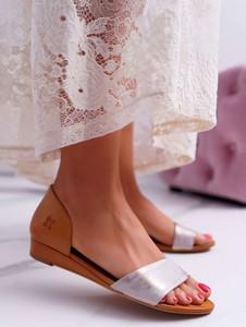 Sandały Maciejka ze skóry