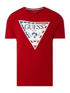T-shirt Guess z krótkim rękawem z bawełny