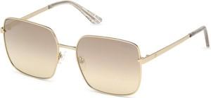 Żółte okulary damskie Guess